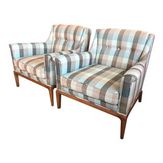 1960s Vintage Henredon Heritage Armchairs- A Pair For Sale