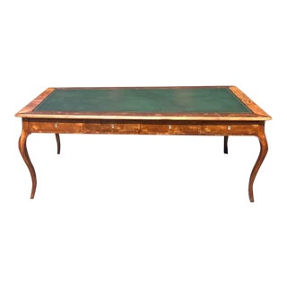 Vintage Regency Leather Top Desk For Sale
