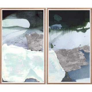 Quartz Diptych: Ocean Art Print, Framed For Sale