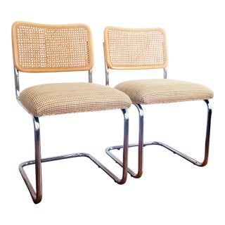 Vintage Breuer Style Dining Chairs - a Pair For Sale