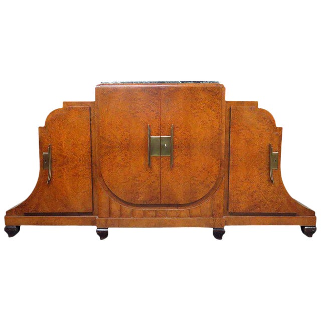 Camard Art Deco Marble-Top Sideboard For Sale