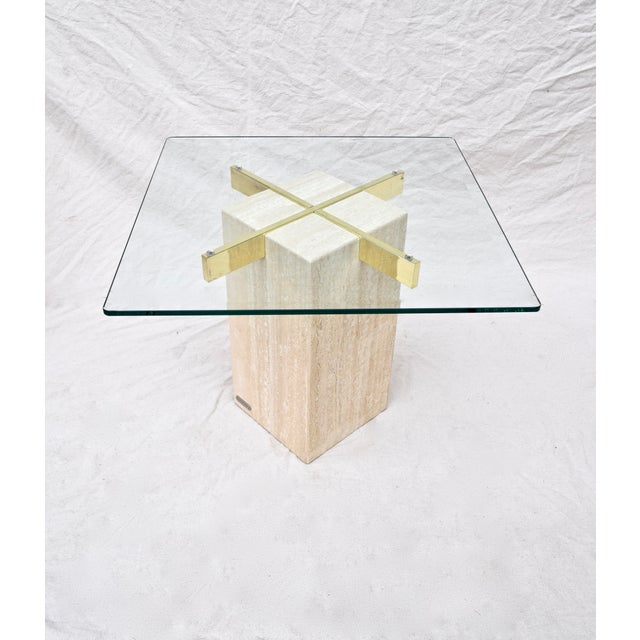 1980s Artedi Travertine Marble Occasional Tables, Pair For Sale - Image 5 of 10