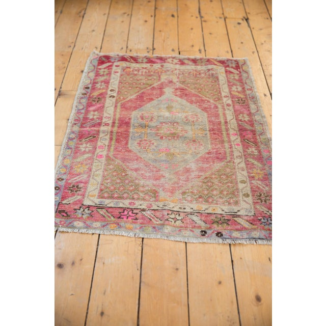 "Textile Vintage Distressed Oushak Rug - 2'9"" X 3'11"" For Sale - Image 7 of 9"