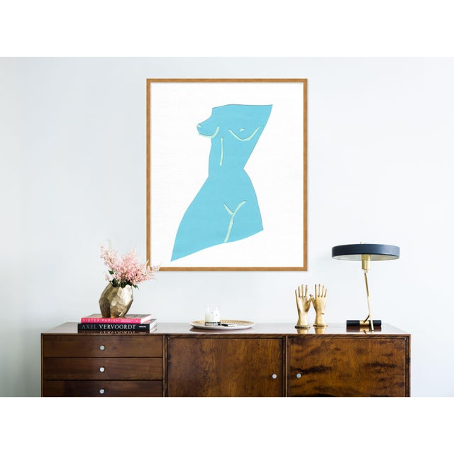 Contemporary Fair Lady 1 by Virginia Chamlee in Gold Framed Paper, Medium Art Print For Sale - Image 3 of 4