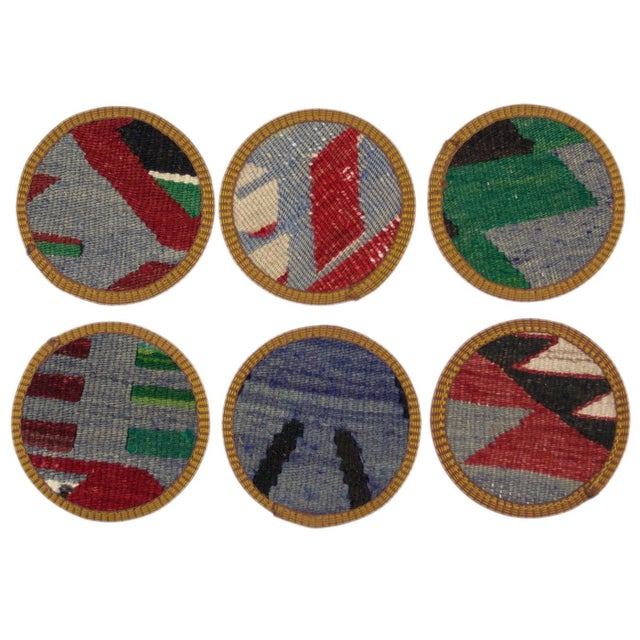 Hazan Kilim Coaster Set of 6 - Image 2 of 2