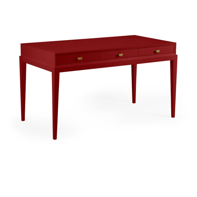 Traditional Casa Cosima Hayes Desk, Classic Burgundy For Sale - Image 3 of 3