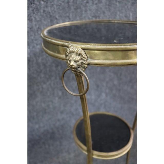 Regency Style Brass & Marble Gueridon Table For Sale In Philadelphia - Image 6 of 8