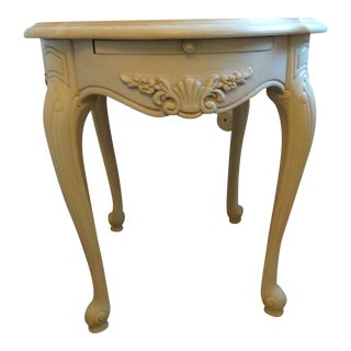 1990s French Provincial Stanley Furniture Pullout Side Table For Sale
