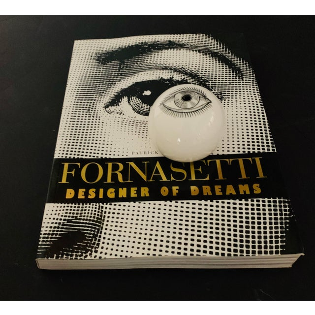 1960s Piero Fornasetti Surrealist Ceramic Eye Eyeball Paperweight For Sale - Image 9 of 11
