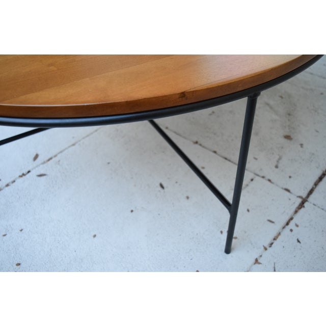Paul McCobb Mid Century Modern Iron Base Round Coffee Table - Image 7 of 11