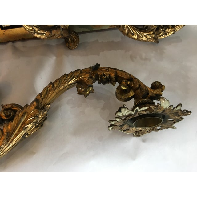 Ornate Bronze Wall Sconces - A Pair - Image 11 of 11