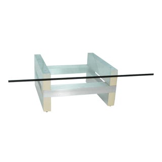 Aluminum Cityscape-Style Coffee Table For Sale