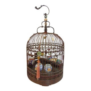 Vintage Chinese Bird Cage For Sale