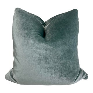 """Kravet Couture """"Luxe Plush Mohair"""" in Misty 22"""" Pillows-A Pair For Sale"""
