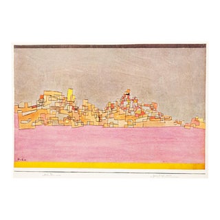 "1958 ""City on Two Hills"" Lithograph by Paul Klee For Sale"