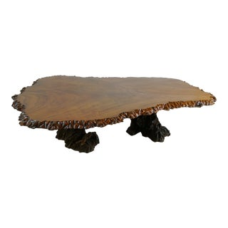 Koa Wood Log Coffee Table For Sale
