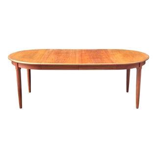 Mid Century Danish Teak Dining Table For Sale