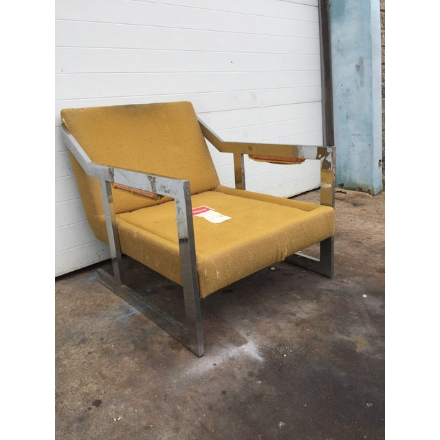 Carsons Mid-Century Chrome Carson Lounge Chair For Sale - Image 4 of 9