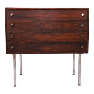 Poul Norreklit Danish Rosewood Four-Drawer Chest for Georg Petersens For Sale