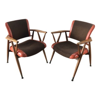 Vintage Mid-Century Modern Boling Arm Chairs- a Pair For Sale