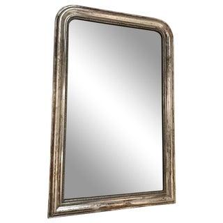 Antique Silver Louis Phillipe Mirror For Sale