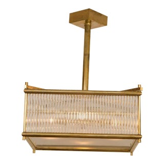 Venini style Brass Square Ceiling Fixtures