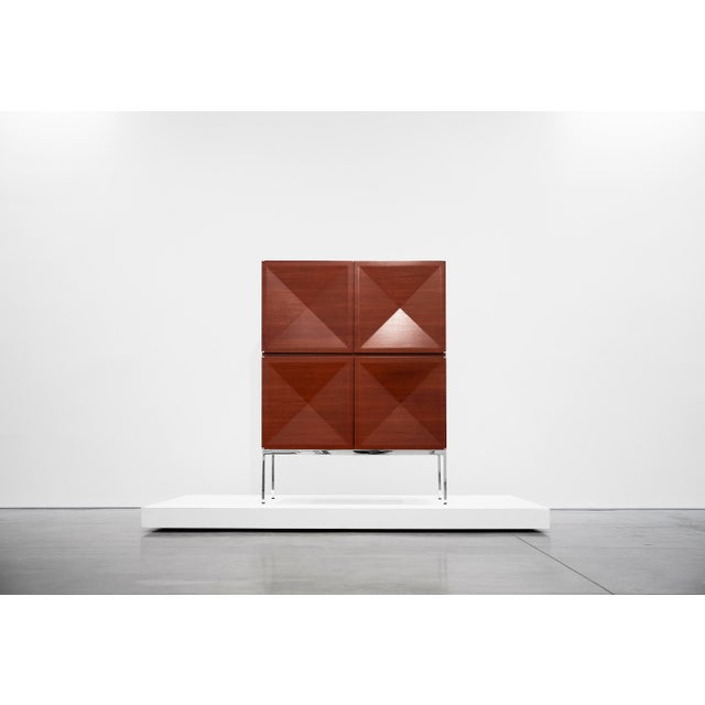 Antoine Philippon and Jacqueline Lecoq, Cabinet, 1307 Series, Edition Erwin Behr, C. 1962, Mahogany, Pressed Plywood, Chrome-Plated Steel For Sale - Image 9 of 9