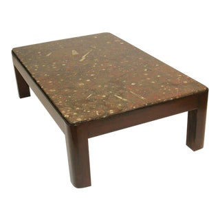 1980's Fossil Stone Coffee Table For Sale