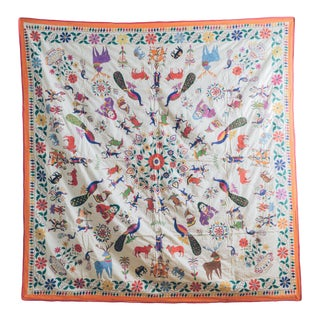 1950s Vintage Handmade Indian Wedding Tapestry For Sale