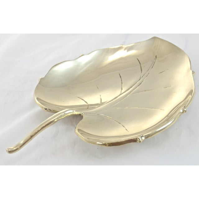 "Brass Leaf Tray, 10"" - Image 4 of 6"