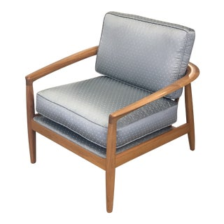 Mid 20th Century Folke Ohlsson Model 72 Walnut Lounge Chair For Sale