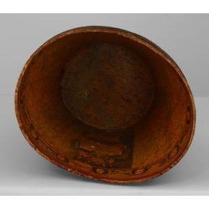 Americana American (19th Cent) dark red leather fire bucket For Sale - Image 3 of 5
