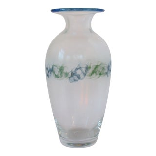 Tall Contemporary Glass Vase For Sale