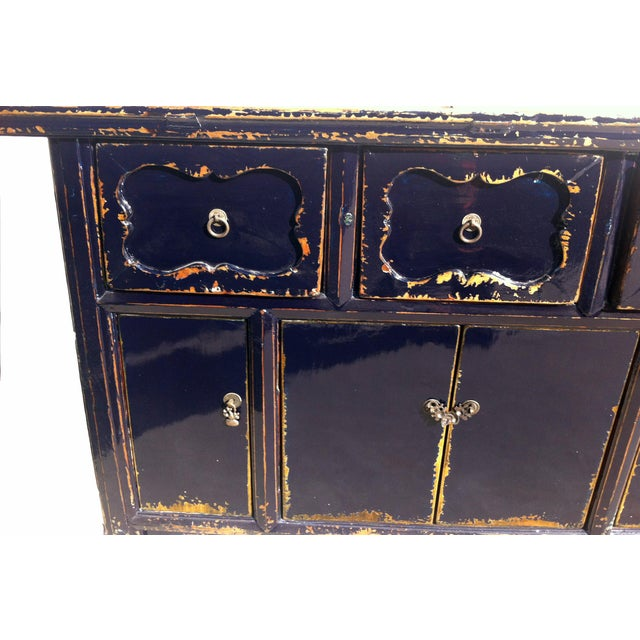 Dark Blue Altar Sideboard For Sale - Image 4 of 9