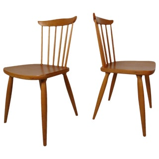 Paul McCobb Style Mid-Century Maple Dining Chairs - a Pair For Sale