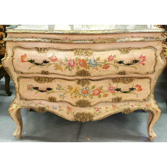Venetian Rococo Commode Circa 1900 For Sale In New Orleans - Image 6 of 6
