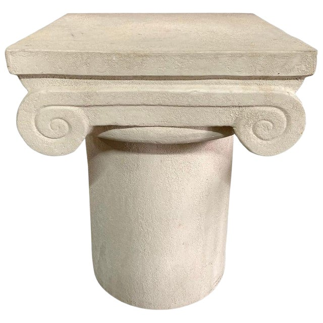 1980s Italian Kreiss Collection Ionic Column Table For Sale