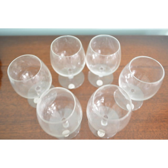 Vintage Val St-Lambert Cordial Glasses & Drinks Tray, 7 Pieces For Sale - Image 9 of 10