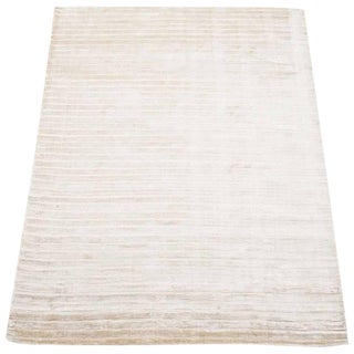 Hand-Knotted Bamboo Silk Rug - 5′5″ × 7′8″ For Sale