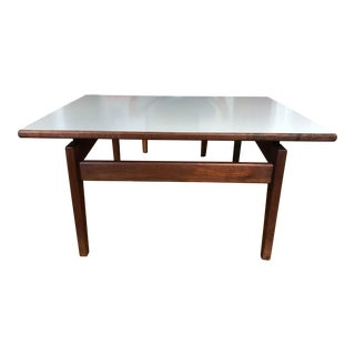 1950s Vintage Jens Risom Walnut Floating Table For Sale
