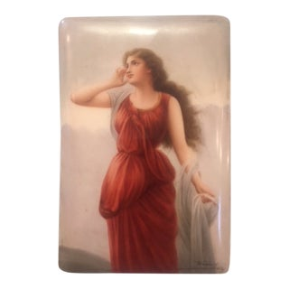 German Hutschenreuther Painting on Porcelain Signed by Wagner For Sale