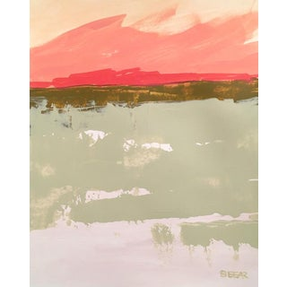 "Contemporary Fine Art Print ""Pink Sky"", Angela Seear, 11"" X 14"" For Sale"