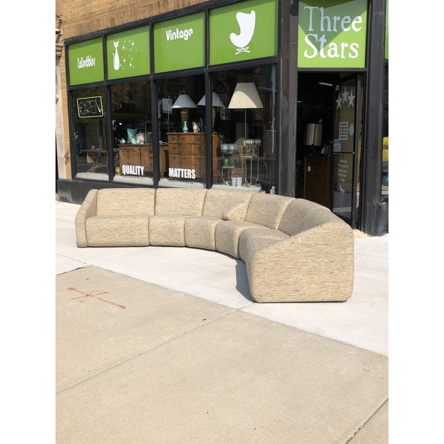 Almond Mid Century Sectional by Vecta Contract For Sale - Image 8 of 8