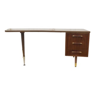 Large Mid-Century Desk With Filing Drawer For Sale