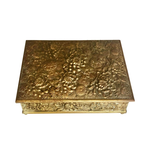 French Antique Brass Box Made in France For Sale - Image 3 of 10