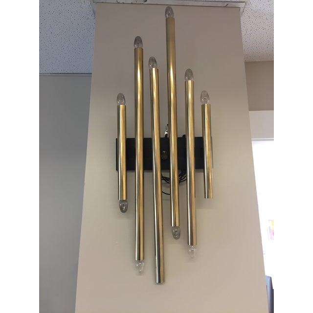 1960s Vintage Single Brass Lightolier Sconce For Sale - Image 5 of 6
