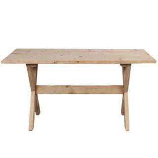 Vintage Rustic Italian X-Base Farm Table For Sale