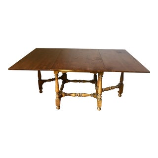 1920s English Style Gateleg Dining Table For Sale