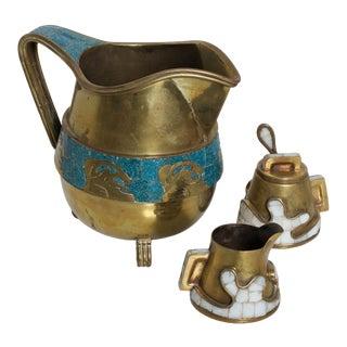 Salvador Teran Mid Century Mexican Modernist Tea Coffee Service Pitcher For Sale