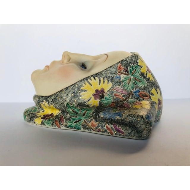 Helen Koenig Scavini Lenci Torino Polychrome Pottery Mask For Sale - Image 4 of 8